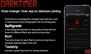 The Darktimer – Darkroom photography app