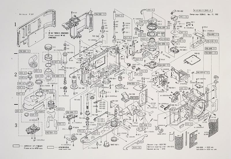 Nikon F3-P Parts Diagram
