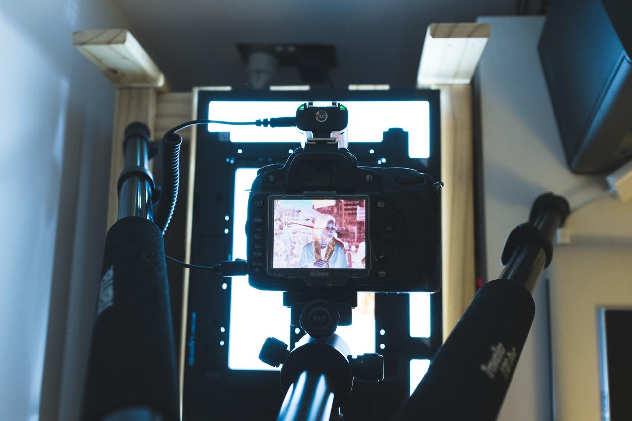 Scanning film with a digital camera